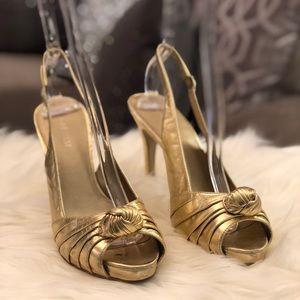 Sandal Heels Gold